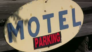 Motel Parking Sign
