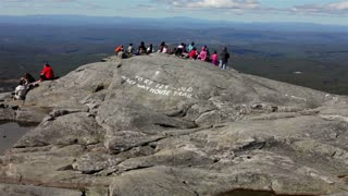 Mount Monadnock tilt from top to cloudy sky