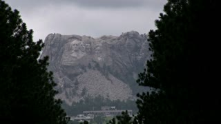 Mount Rushmore seen from distance