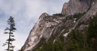 Mountain side in nature of Yosemite 4k