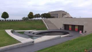 National World War I Museum entrance establishing shot 4k
