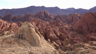 Natural red rock formations in Valley of Fire State Park 4k