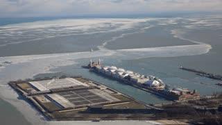 Navy Pier at Lake Michigan Chicago Illinois 4k