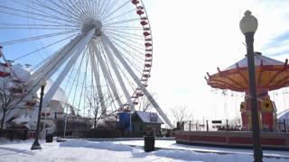 Navy Pier Ferris Wheel Chicago tilt shot 4k