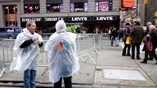 NBC crew in downtown New York City