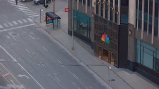 NBC Tower entrance in downtown Chicago 4k