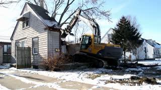 Neighborhood house torn apart