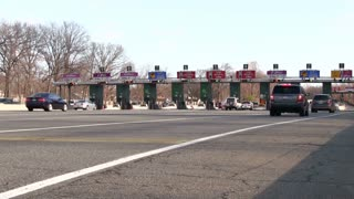 New Jersey toll booth stop