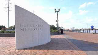 New Orleans Holocaust Museum along Mississippi river 4k