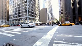 New York city intersection wide angle