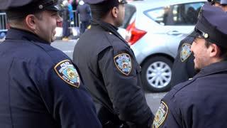New York Police officers at Macys parade 2015 4k