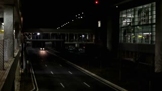 Night traffic at Airport