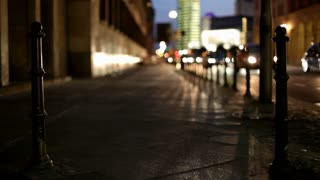 Night traffic in busy city