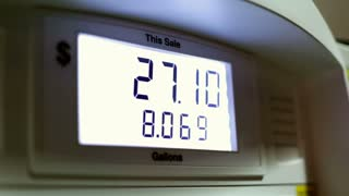 Numbers at Gas pump counting up