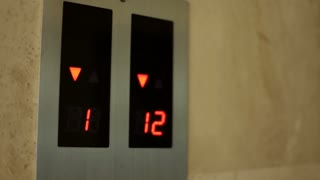 Numbers for elevator floors changing