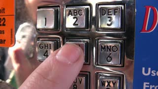 Numerical Keypad on Payphone