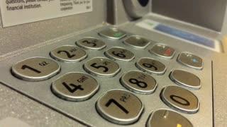 Numerical pin entry pad at ATM 4k