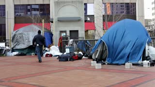 Occupy Dayton tents in Downtown