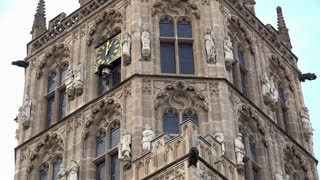 Old City Hall Clock Tower Cologne Germany 4k