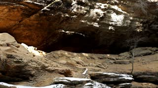 Old Mans Cave at Hocking Hills during Winter