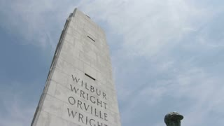 Orville Wright Statue in front of Memorial