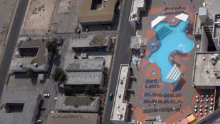 Overhead shot of swimming pool in Las Vegas Nevada 4k