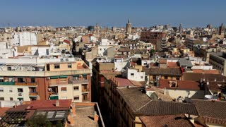 Overview of beautiful Valencia city in Spain 4k