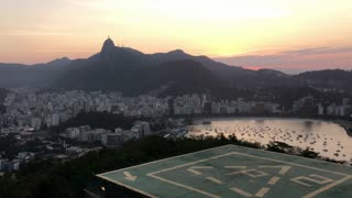 Overview of Rio de Janeiro at sunset