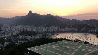Overview of Rio de Janeiro at sunset