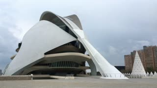 Palau de les Arts Reina Sofia in Valencia Spain 4k