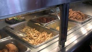 Pan of Buffet Food