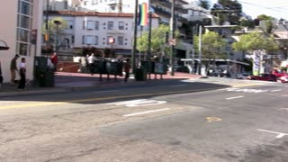 Pan of Castro Street San Fransisco