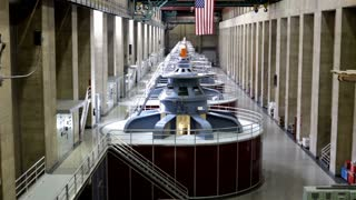 Pan of Generators in Hoover Dam