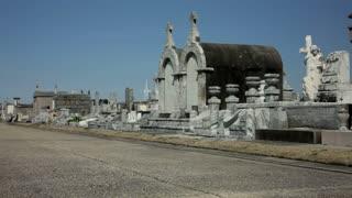 Pan of Gravestones in New Orleans