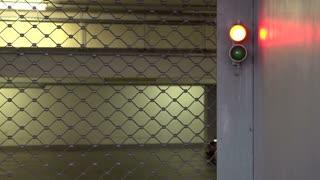 Parking Garage gate closing