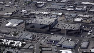 Parking garage in downtown city of Las Vegas Nevada 4k