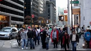Pedestrians in New York City