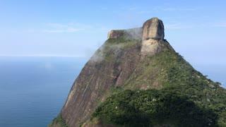 Pedra da Gavea in Rio de Janeiro on cloudy day 4k