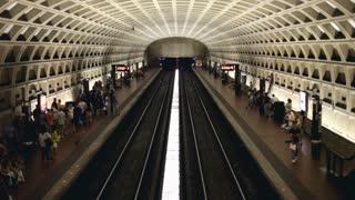 Pentagon City Train stop in Washington D.C.