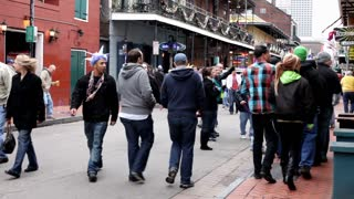 People on Bourbon Street in the Afternoon