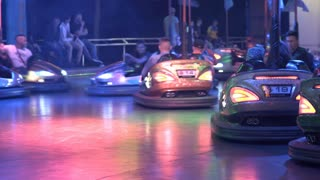 People on Bumper Cars at Oktoberfest in Offenbach 4k
