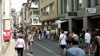 People shopping in streets of Luzern
