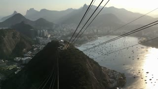 People taking Gondola lift down Sugarloaf 4k