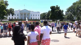 People visiting White House in Washington DC 4k