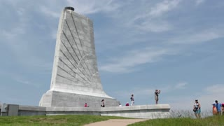 People visiting Wright Brothers Memorial