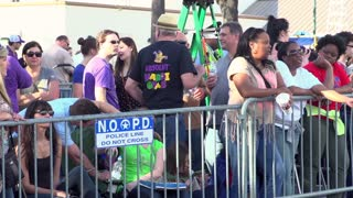 People waiting for Endymion parade to start