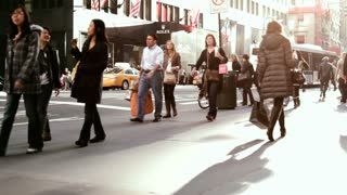 People walking on the streets of New York City