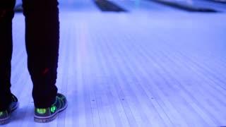 Person bowling at Lunar bowl