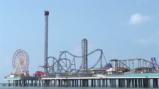 Pleasure Pier amusement park in Galveston TX