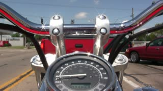 Point of View riding a Motorcycle